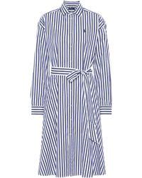 Polo Ralph Lauren - Striped Cotton Midi Dress - Lyst