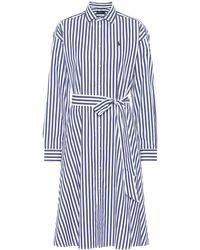Polo Ralph Lauren - Vestido midi de algodón de rayas - Lyst
