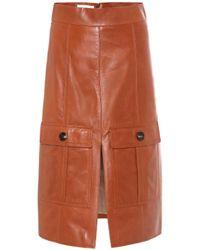 Chloé Leather Skirt - Multicolor