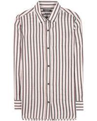 Isabel Marant - Striped Ramie And Silk Shirt - Lyst