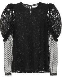 See By Chloé - Lace And Cotton-blend Top - Lyst