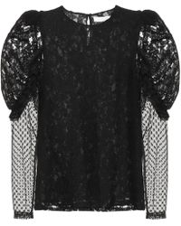 See By Chloé Lace And Cotton-blend Top - Black