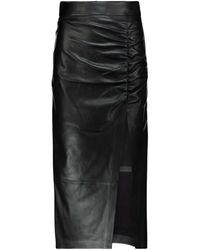 Zeynep Arcay Jupe crayon en cuir - Noir