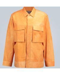 Jacquemus La Chemise Soleil Tie-dye Shirt - Orange