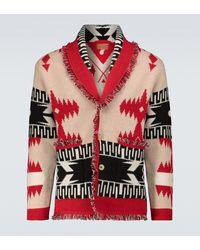 Alanui Cardigan Regenerated Chinchilla in cashmere e lana - Rosso