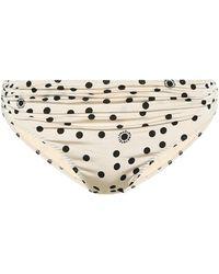 Stella McCartney Braga de bikini de lunares - Blanco