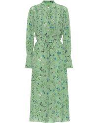 Altuzarra League Floral Silk Dress - Green