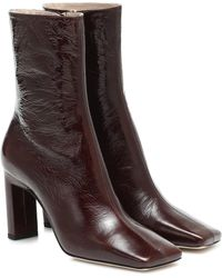 Wandler Isa Leather Ankle Boots - Brown