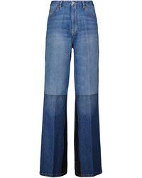 Victoria Beckham Jeans flared a vita alta - Blu