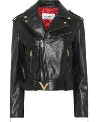 Valentino Leather Jacket - Black