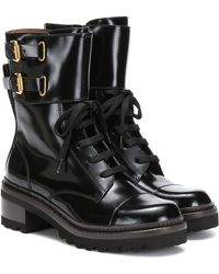 See By Chloé Mallory Leather Ankle Boots - Black
