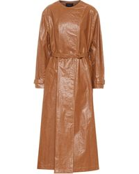 Isabel Marant Trench Corly in similpelle - Marrone