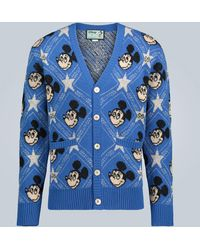 Gucci Disney X Wool Cardigan - Blue
