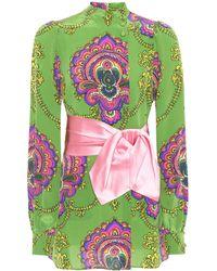 Gucci - Printed Silk Top - Lyst