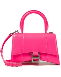 Balenciaga Tote Hourglass XS de piel - Rosa