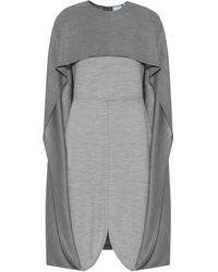 Burberry Midikleid aus Woll-Jersey - Grau