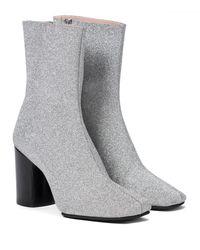 Acne Studios Glitter Ankle Boots - Metallic