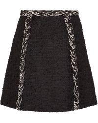 Giambattista Valli Minifalda de tweed - Negro