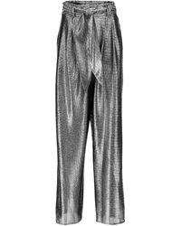 Christopher Kane Pantalones anchos metalizados - Metálico