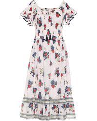 Tory Burch Meadow Folly Cotton Voile Midi Dress - Multicolour