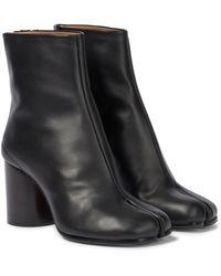 Maison Margiela Tabi Leather Ankle Boots - Black