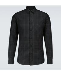 Burberry Kariertes Hemd Simms aus Baumwolle - Grau