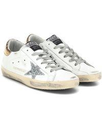 Golden Goose Deluxe Brand - Esclusiva per Mytheresa - Sneakers Superstar in pelle con glitter - Lyst