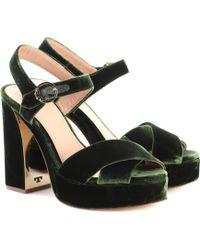0115436f3 Lyst - Tory Burch Gold black Brocade Fabric Loretta Sandals Size ...
