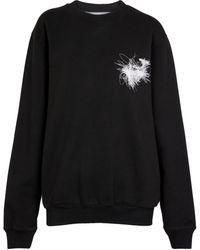 Off-White c/o Virgil Abloh Bedrucktes Sweatshirt aus Baumwolle - Schwarz