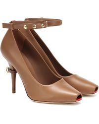 Burberry Jermyn Leather Court Shoes - Brown