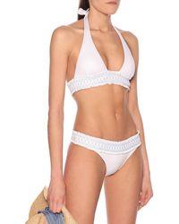 Heidi Klein Haut de bikini triangle Antilles - Blanc