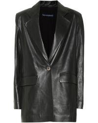 Zeynep Arcay Leather Blazer - Black
