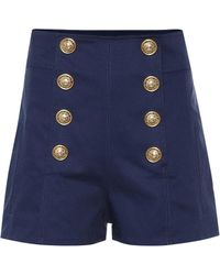 Balmain - Button-front Shorts - Lyst