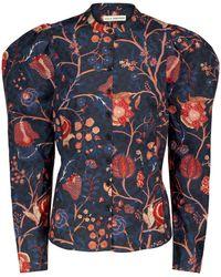 Ulla Johnson Harriet Floral Cotton Shirt - Blue