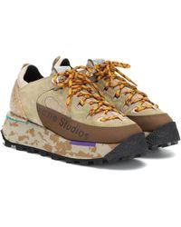 Acne Studios Zapatillas de gamuza de plataforma - Multicolor