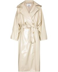 Frankie Shop Patent Trench Coat - White