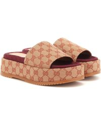 Gucci Original GG Platform Sandals - Natural