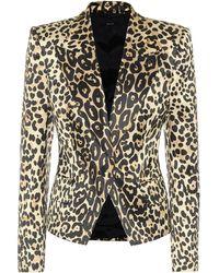 Tom Ford Leopard-print Cotton-blend Blazer - Multicolour
