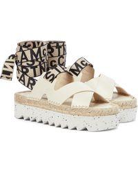 Stella McCartney Gaia Platform Espadrille Sandals - White