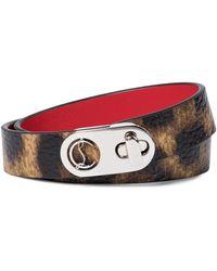 Christian Louboutin Elisa Leather Bracelet - Brown