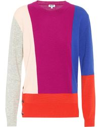 KENZO - Cotton, Wool And Cashmere Sweater - Lyst