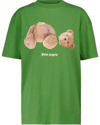 Palm Angels T-Shirt aus Baumwoll-Jersey - Grün