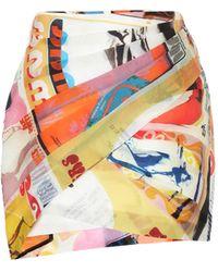 Zimmermann Brightside Silk Wrap Mini Skirt - Multicolor