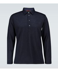 Barena Mezolera Tonel Knitted Polo Shirt - Blue
