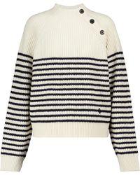 Tory Sport Pullover aus Merinowolle - Weiß