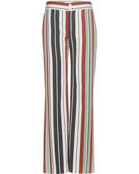 Chloé - Striped Cotton-blend Twill Wide-leg Trousers - Lyst