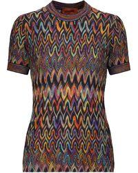Missoni Top de lana en zig-zag - Multicolor