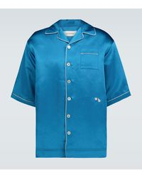 Wales Bonner Short-sleeved Pyjama Shirt - Blue