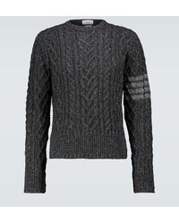 Thom Browne - Pullover in lana e mohair - Lyst