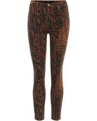 J Brand High-Rise Skinny Jeans Alana - Braun